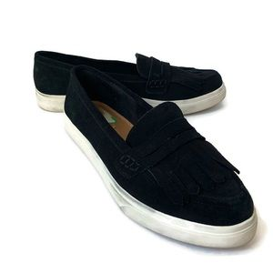 Crown Vintage | Black Suede Mocassin Loafer